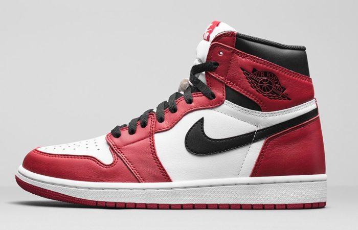 ジョーダン1-白赤