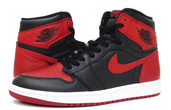 ジョーダン1-赤黒